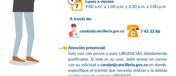 Cierre de instalaciones y atención remota para la atención de consultas en el Consulado de Colombia