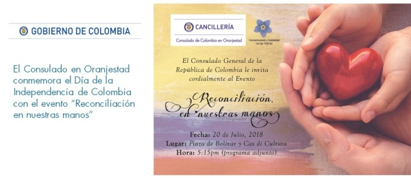 """Consulado en Oranjestad conmemora el Día de la Independencia del país con el evento """"Reconciliación en nuestras manos"""""""