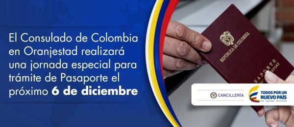 El Consulado de Colombia en Oranjestad realizará una jornada especial para trámite de Pasaporte el próximo 6 de diciembre